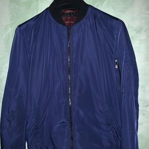 Zara men's Nylon bomber jacket size medium